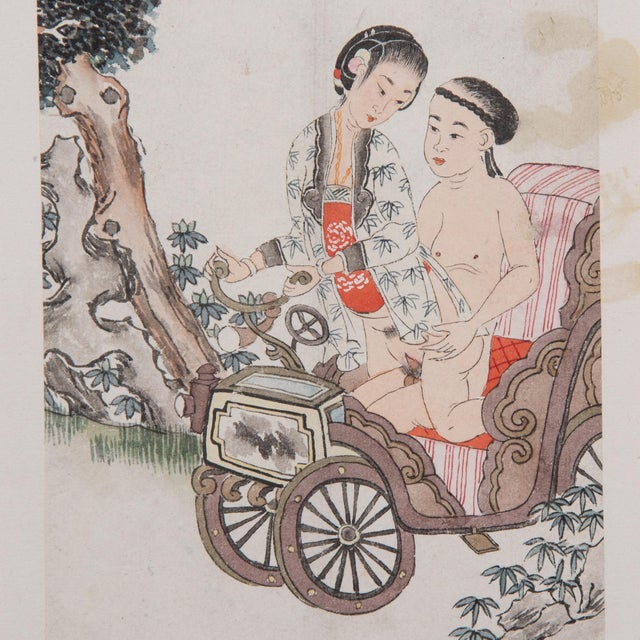 Despite its explicit content, this intimate scene conveys a sense of tenderness and romantic love characteristic of...