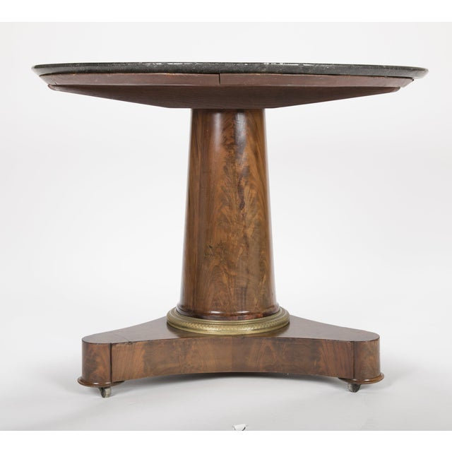 19th Century English Marble Top Center Table For Sale - Image 10 of 13