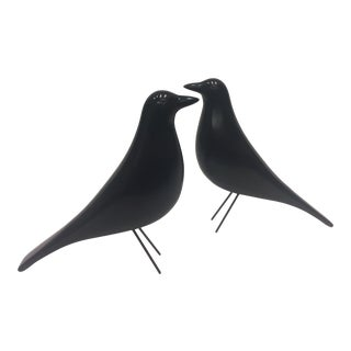 Carved and Painted Wood Crow Decoys Charles Perdew Attributed - a Pair For Sale
