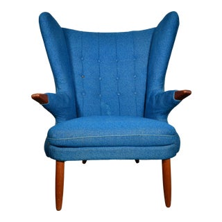 "Danish Mid Century ""Papa Bear"" Chair For Sale"