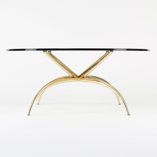 1950's VINTAGE ITALIAN BRASS COFFEE TABLE For Sale - Image 4 of 10