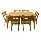 Image of 1960s Mid-Century Modern Heywood Wakefield Dining Set - 7 Pieces For Sale