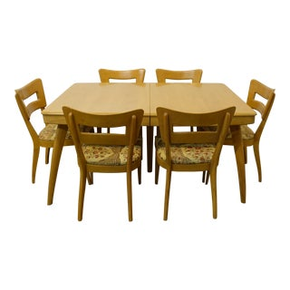 1960s Mid-Century Modern Heywood Wakefield Dining Set - 7 Pieces For Sale