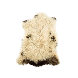 "Contemporary Long Soft Wool Sheepskin Pelt - 2'2""x3'1"" For Sale"