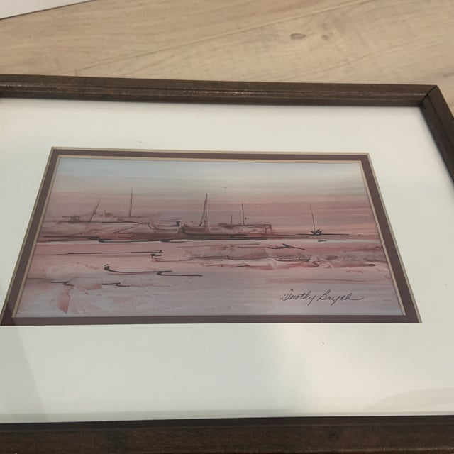 Mid 20th Century Abstract Watercolor Painting, Framed For Sale - Image 9 of 10