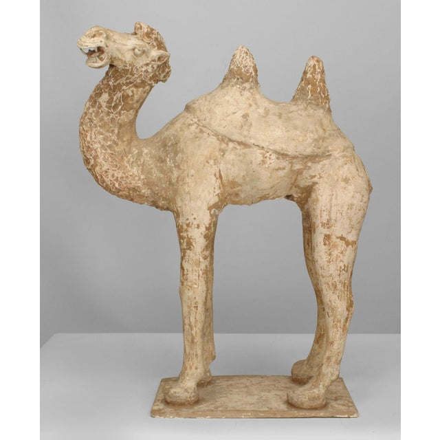 Ceramic Asian Chinese Tang Dynasty Unglazed Pottery Camel For Sale - Image 7 of 7