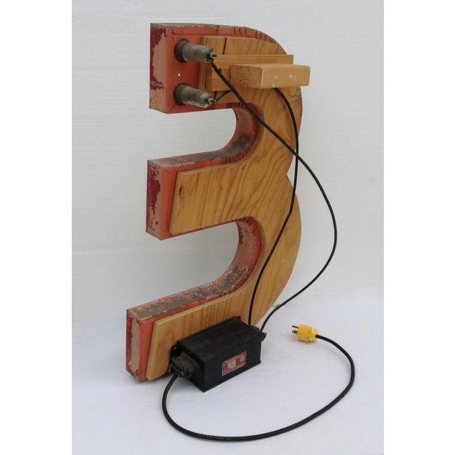 """Vintage Neon Diner Sign, Letter """"E"""" For Sale - Image 9 of 11"""