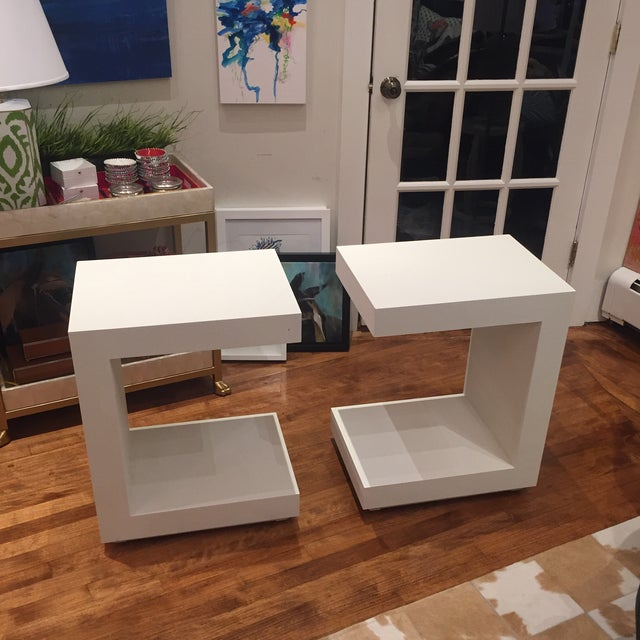 Bungalow 5 Linen Side Tables- a Pair For Sale - Image 12 of 12