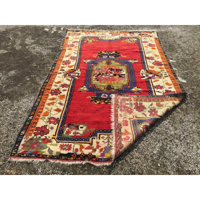 """Vintage Hand Knotted Anatolian Rug - 5'1"""" x 8' - Image 8 of 8"""