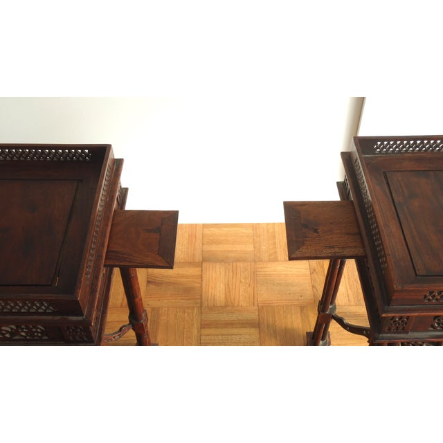 Vintage Southeast Asian Side Tables - A Pair - Image 4 of 10