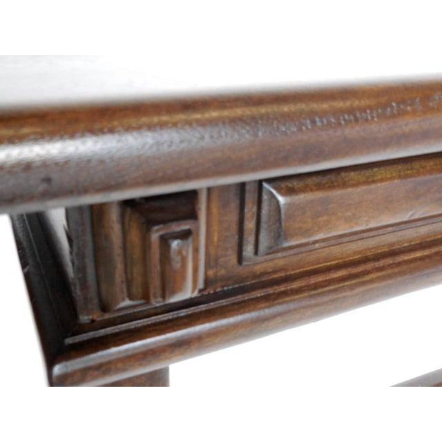 Custom Walnut Console With Raised Panels For Sale - Image 4 of 8