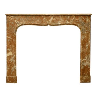 19th Century Red Marble Louis XIV Fireplace Mantel