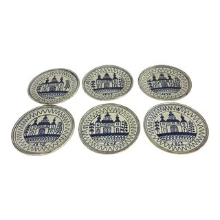 Tlaquepaque Mexico Church Plates - Set of 6