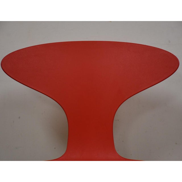 Bernhardt Bernhardt Modern Red Chrome Desk Chair For Sale - Image 4 of 9