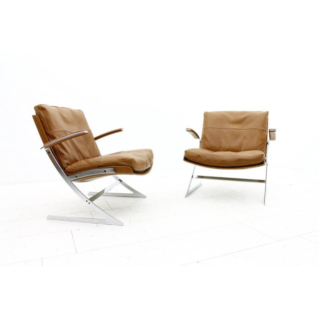 Mid-Century Modern Pair of Lobby Lounge Chairs by Preben Fabricius for Arnold Exclusiv, 1972 For Sale - Image 3 of 11