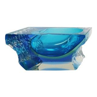 1960s Astonishing Blue Ashtray or Vide Poche Designed by Flavio Poli for Seguso For Sale