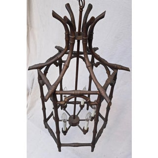 Chinoiserie, Faux Bamboo Pagoda Chandelier, Large Scale Preview