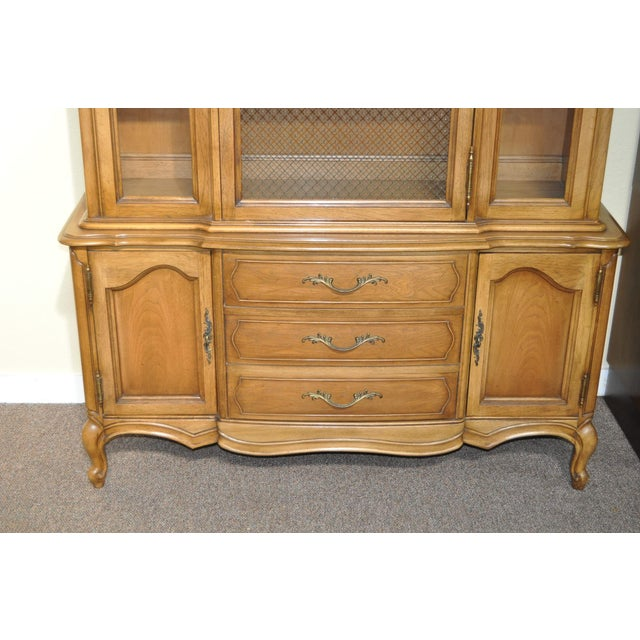 French Provincial Walnut Cabinet - Image 6 of 8