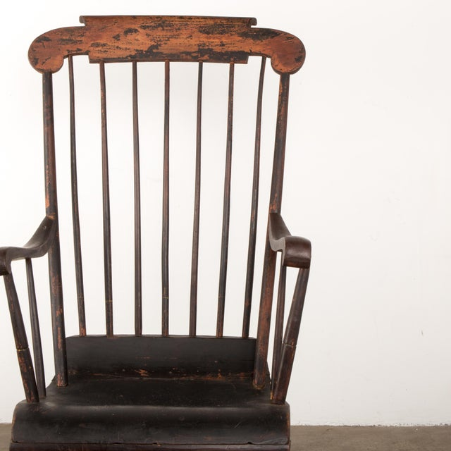 Paint Early 19th Century Windsor Rocking Chair For Sale - Image 7 of 13