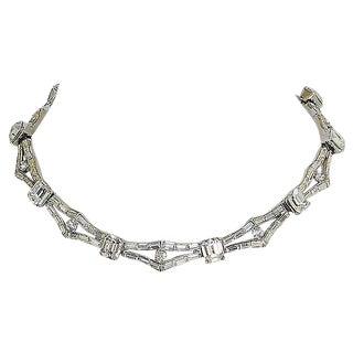 Trifari Rhinestone Collar Necklace, 1957 For Sale