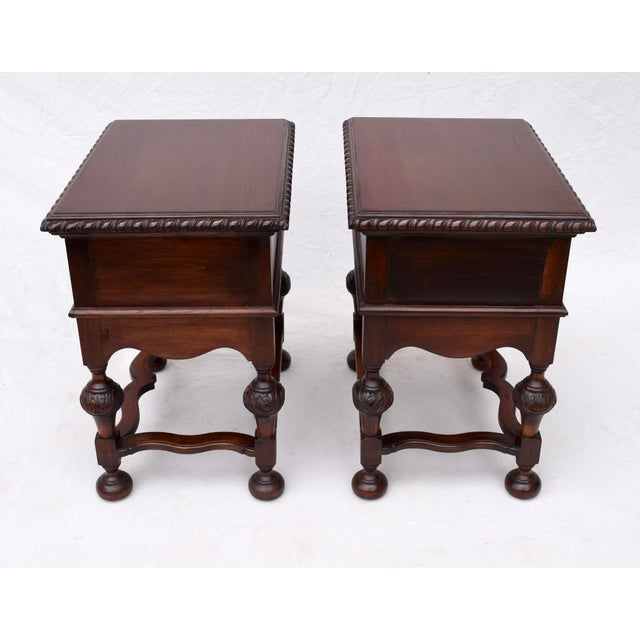 Metal Jacobean Style Side Tables or Nightstands For Sale - Image 7 of 10
