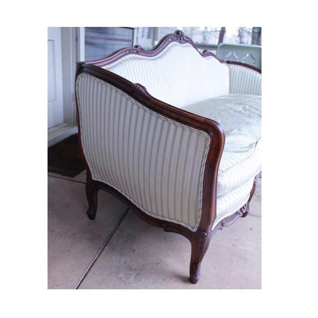 Rococo Italian Louis XV Style Walnut Sofa For Sale - Image 3 of 13