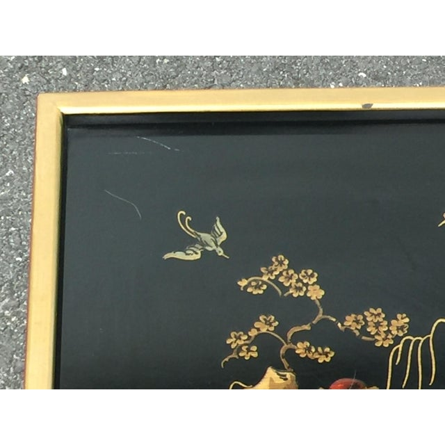 Drexel Sketchbook Chinoiserie Style Black and Gold Lacquer End Tables - a Pair For Sale In Philadelphia - Image 6 of 10