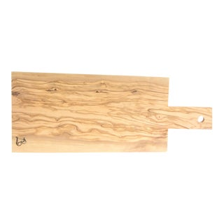 Rustic Olive Wood Cutting Serving Board by Andrea Brugi, Italy For Sale