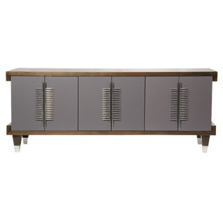 Simon Credenza (Slate Gray & Perfect Walnut) For Sale