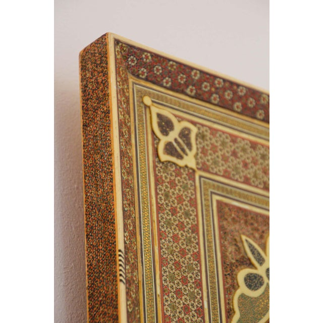 Middle Eastern Moorish-Style Sadeli Mosaic Mirror For Sale - Image 4 of 13