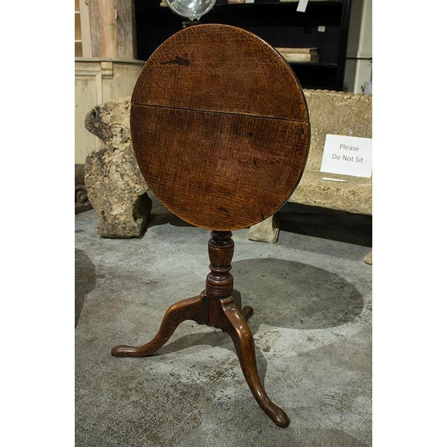 English English Round Tilt Top Table For Sale - Image 3 of 6