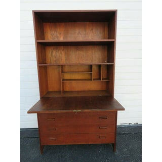 Danish Modern Mid Century Display Cabinet Bookcase With Secretary Desk Preview