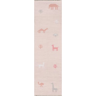 "Erin Gates by Momeni Thompson Porter Pink Runner - 2'3"" X 8' For Sale"