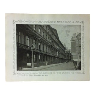 """1906 """"Adelphi Terrace - With Garrick's House"""" Famous View of London Print For Sale"""