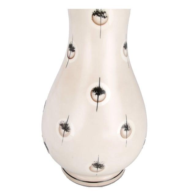 Italian Handmade Ceramic Lamp For Sale - Image 4 of 6