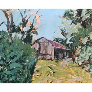 Maryland Farm Painting, Oil on Canvas For Sale