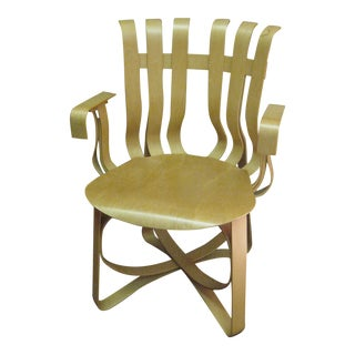 Designer Frank Gehry 1992 Knoll Bentwood Hat Trick Chair For Sale