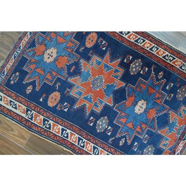 "Vintage Caucasian Kazak Rug - 3'6"" X 4'8"" - Image 6 of 9"