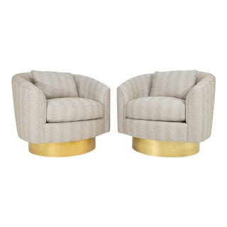 Bernhardt Swivel Lounge Chairs- A Pair For Sale