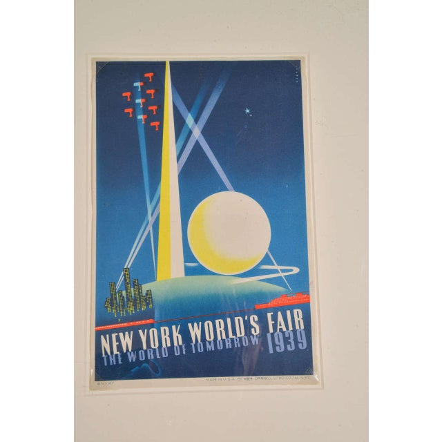 Art Deco 1939 Art Deco Machine Age Original New York World's Fair Posters Triptych For Sale - Image 3 of 9