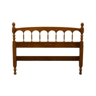 Late 20th Century Maple Colonial Style Full Size Headboard For Sale