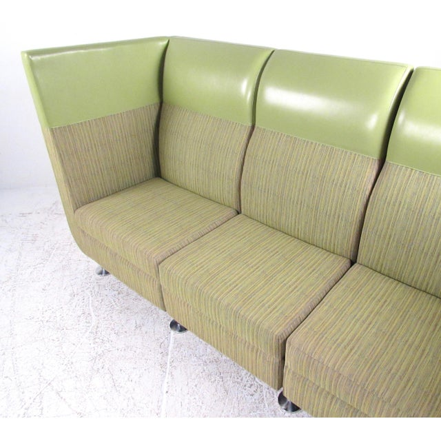 Stylish Modern Booth Style Sofa For Sale - Image 4 of 13