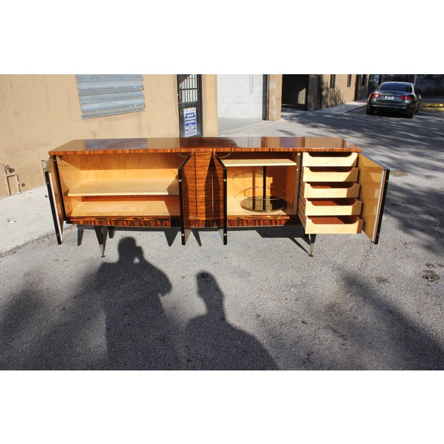 1940s 1940sArt Deco Exotic Macassar Ebony Sideboard / Buffet For Sale - Image 5 of 13