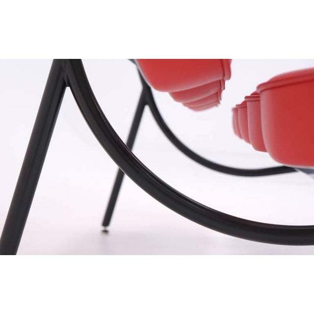 Herman Miller Red Leather George Nelson for Herman Miller Marshmallow Sofa For Sale - Image 4 of 8