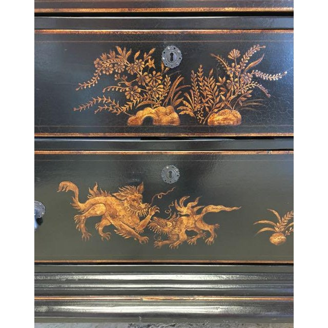 Asian Dennis and Leen Chinoiserie Lacquer Dresser Chest of Drawers For Sale - Image 3 of 13