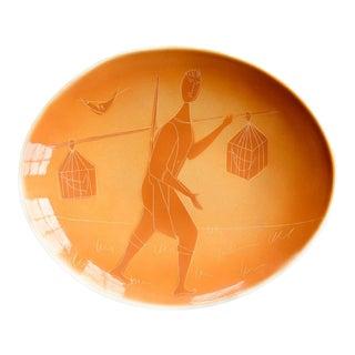 Italian Bird Vendor Ceramic Plate