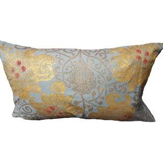 Bocca DI Leone Sateen Linen Pillow For Sale