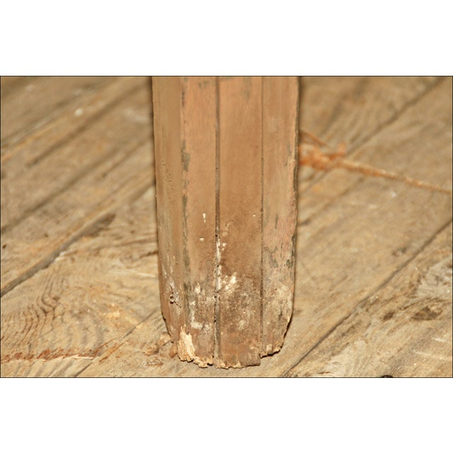 Vintage Industrial Wood Library Table - Image 7 of 11