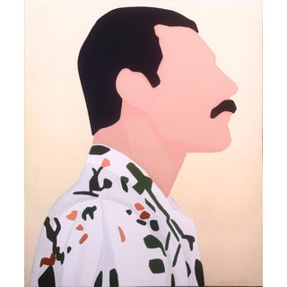 """Freddie Portrait With a Shirt I"" Painting by Marisa Añón For Sale"
