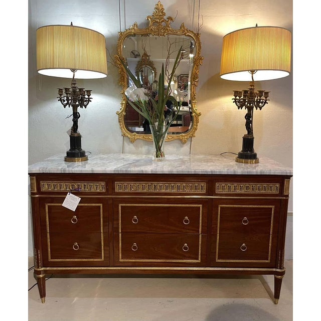 Pair of Monumental French Commodes in the Manner of Maison Jansen For Sale - Image 9 of 13